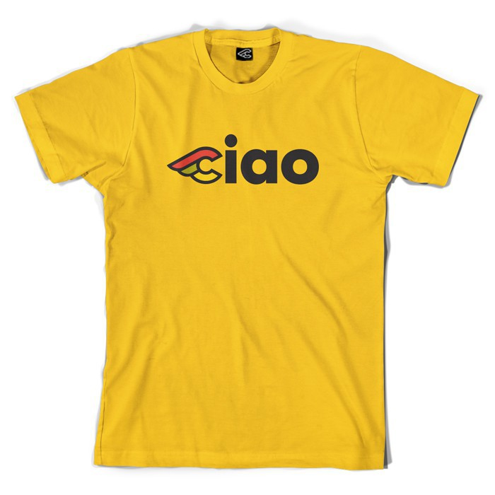 CINELLI CIAO T-SHIRT YELLOW