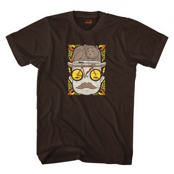 CINELLI MR CAT HAT T-SHIRT BROWN