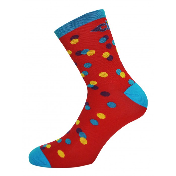 CALEIDO DOTS SOCKS - RED