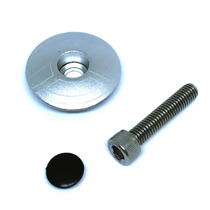 TOP CAP SILVER WITH BOLT & PLUG