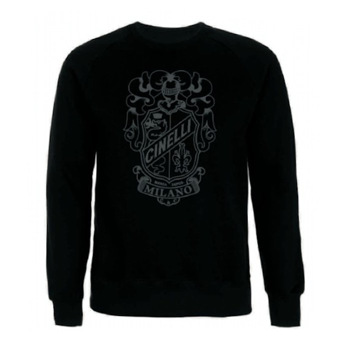 CREST CREW NECK SWEATSHIRT BLACK