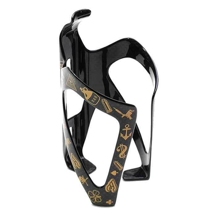MIKE GIANT CARBON BOTTLE CAGE GOLD