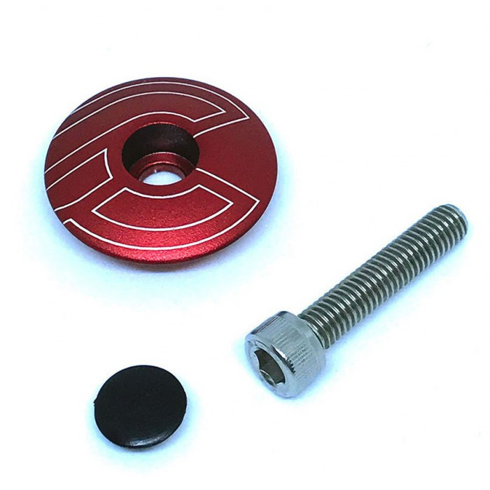 TOP CAP RED WITH BOLT & PLUG